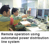 Remote Operation Using Automated Power Distribution Line System